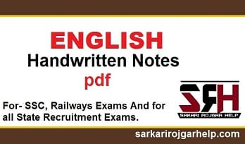 English for competitive exams handwritten notes pdf