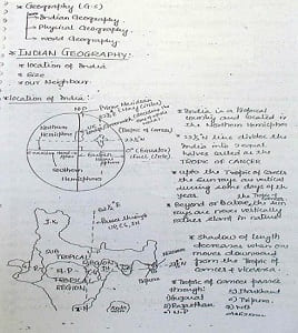 geography handwriting notes pdf
