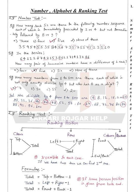 number alphabet ranking and time sequence handwritten notes